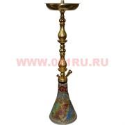 Кальян сирийский 63 см (шахта металл золото роспись) в ассортименте