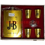 Набор с флягой 9 унций (003-7) J&B с 4 стаканчиками