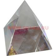 """Кристалл """"Пирамида прозрачная"""" 10 см (для гравировки) в твердой коробочке"""