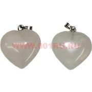 Сердечки 2,3 см из розового кварца (подвески) цена за 2 штуки