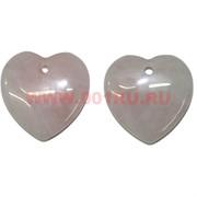 Сердечки 3,5 см из розового кварца (подвески) цена за 2 штуки