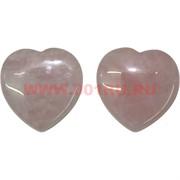 Сердечки 5 см из розового кварца, цена за 2 штуки