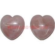 Сердечки 4,5 см (толстые) из розового кварца, цена за 2 штуки