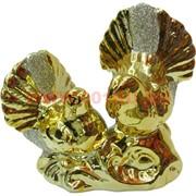 Голуби из фарфора (808) под золото 10,5 см