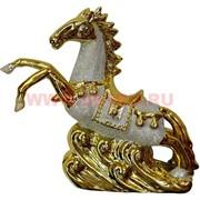 """Лошадь (NS-922) """"под золото"""" из фарфора 20,5 см"""