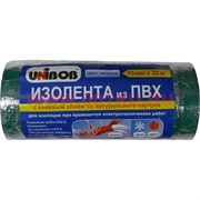 Изолента из ПВХ Юнибоб (клей каучук) зеленая 15 мм 20 м, цена за 10 шт (Unibob)