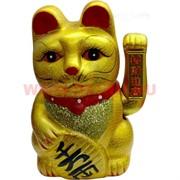Кот Манеки-неко (керамика) 20 см на батарейках