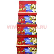 Коробки подарочные квадратные 5 в 1 (3 расцветки)