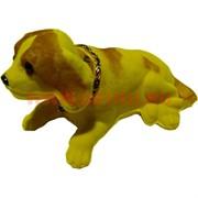 Собака с качающейся головой (12 шт\уп) средняя, цвета миксом