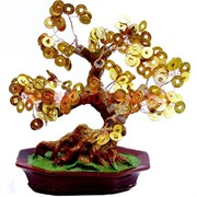 Денежное дерево №6 (25см) золото
