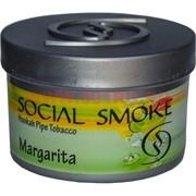 "Табак для кальяна Social Smoke 250 гр ""Margarita"" (USA) коктейль маргарита"