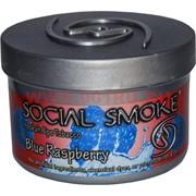 "Табак для кальяна Social Smoke 250 гр ""Blue Raspberry"" (USA) малина ежевика черника"