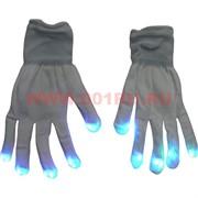 """Прикол """"Светящиеся перчатки"""" белые"""
