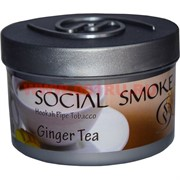 "Табак для кальяна Social Smoke 250 гр ""Ginger Tea"" (USA) имбирный чай"