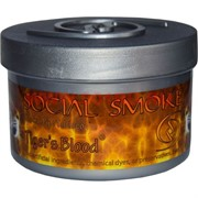 """Табак для кальяна Social Smoke 250 гр """"Tiger's Blood"""" (USA) черника клубника малина вишня"""