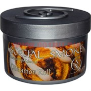 "Табак для кальяна Social Smoke 250 гр ""Cinnamon Roll"" (USA) корица"