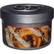 "Табак для кальяна Social Smoke 250 гр ""Cinnamon Roll"" (USA) корица"