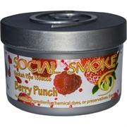 "Табак для кальяна Social Smoke 250 гр ""Berry Punch"" (USA) малина клубника"