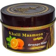 "Табак для кальяна Khalil Mamoon 250 гр ""Orange Mint"" (USA) апельсин с мятой"
