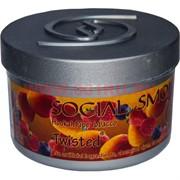 "Табак для кальяна Social Smoke 250 гр ""Twisted"" (USA) персик малина черника"