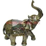 Слон с поднятым хоботом (843 A) из полистоуна