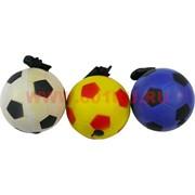 Мячик с веревкой, цена за 12 шт, цвета миксом