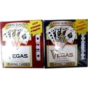 Карты для покера+кости Vegas (США), цена за 2 упаковки
