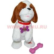Игрушка музыкальная Собака с костью (гавкает, реагирует на кость, поет) 24 шт/кор