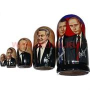 Матрешка 5 президентов: Путин-Медведев, Ельцин, Горбачёв, Брежнев, Хрущев