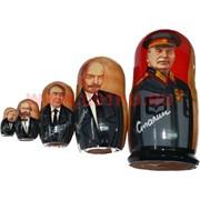 Матрешка 5 вождей: Ленин, Сталин, Брежнев, Энгельс, Маркс