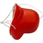 """Прикол """"Нос клоуна"""" красный на резинке, цена за 100 шт"""