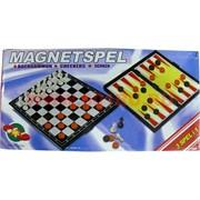Шахматы, шашки, нарды магнитные 3-в-1 размер 25 см