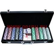 """Набор для покера """"500 фишек"""" в кожаном чемодане"""