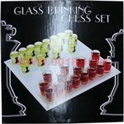 Шахматы пьяные с круглыми рюмками большие