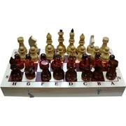Шахматы деревянные простые 40х40 см доска