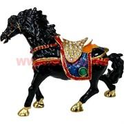 Шкатулка Лошадь со стразами (4034) 9,5 см