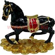 Шкатулка Лошадь со стразами (2532) 10 см