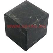 Кубик неполированный из натур.шунгита 4 см