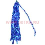 Бусины из синтетического опала 12 размер цена за 1 веревочку синий цвет