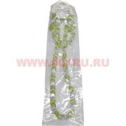 Набор:подвеска,браслет и серьги из циркона бело-салатовый цвет