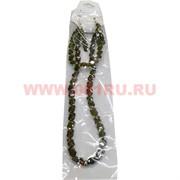 Набор:подвеска,браслет и серьги из циркона темно-зеленый цвет