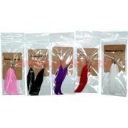 Сережки-перья 12 шт/уп, цвета в ассортименте (цена за упаковку)