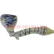 Трубка курительная стеклянная 12 см (толстое стекло)