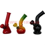 Бонг стеклянный цветной 12 см (формы, цвета в ассортименте)
