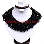 Колье-воротничок 48 см черный цвет