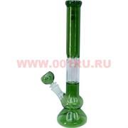 Бонг стеклянный (5мм) GB-216 зеленый прозрачный 35,5 см