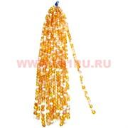 Бусины из синтетического опала 8 размер цена за 1 веревочку золотистый цвет