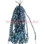 Бусины из синтетического опала 10 размер цена за 1 веревочку темно-синий цвет