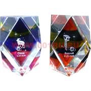 """Кристалл """"Зодиак"""" 5,8 см (12 шт\уп) цветной, цена за 12 шт"""
