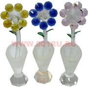 """Кристалл """"Ромашки в вазе"""" 15 см цвета в ассортименте"""